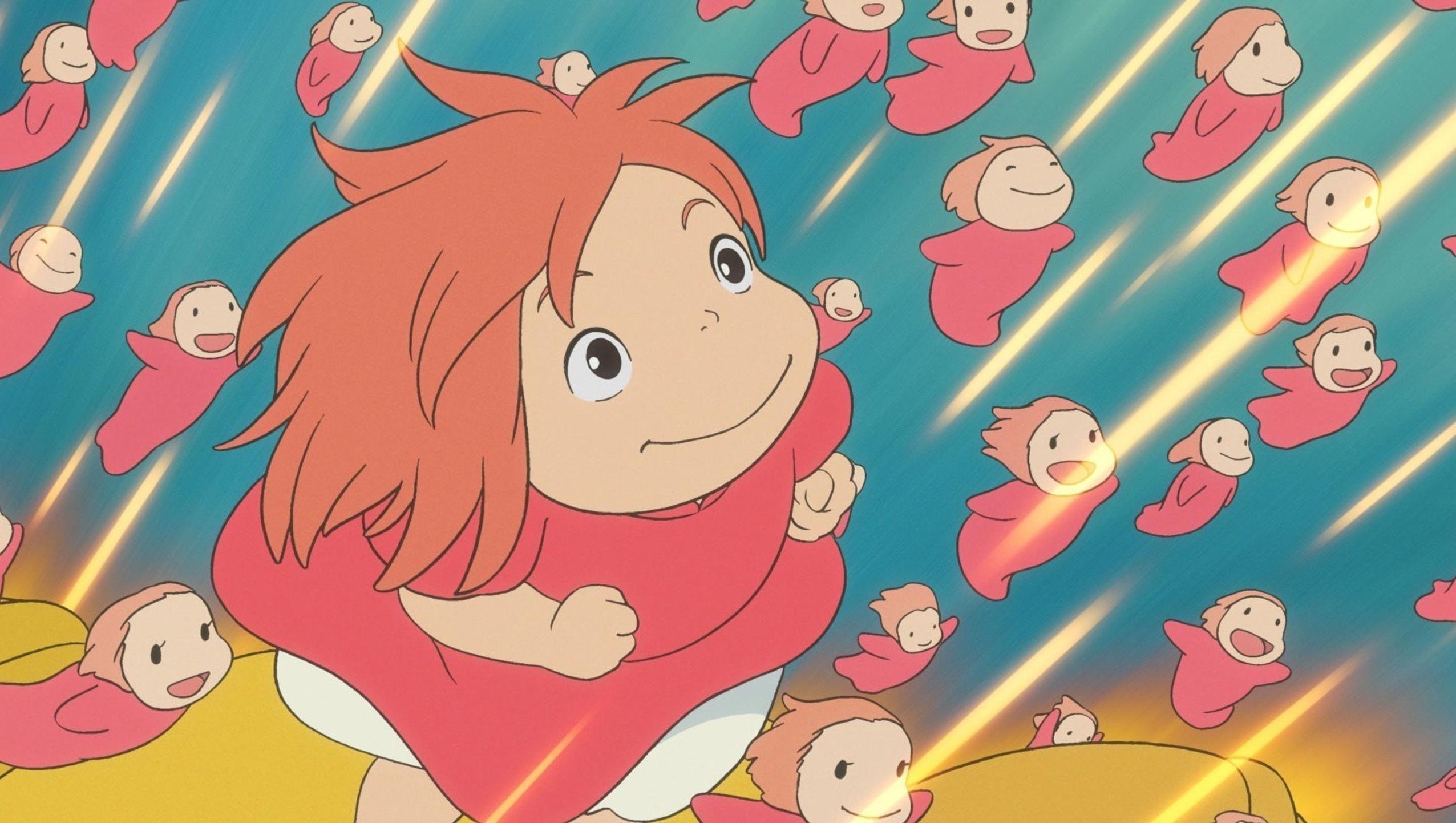 Ponyo 2008 Desktop Wallpaper Moviemania Studio Ghibli Movies Ghibli Movies Ponyo