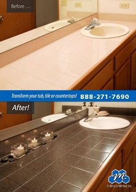Don T Replace Refinish Bathroom Sink Refinishing With Miracle