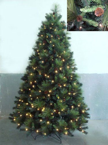 $459.99 7.5' Pre-Lit Artificial Christmas Tree with Pine Cones ...