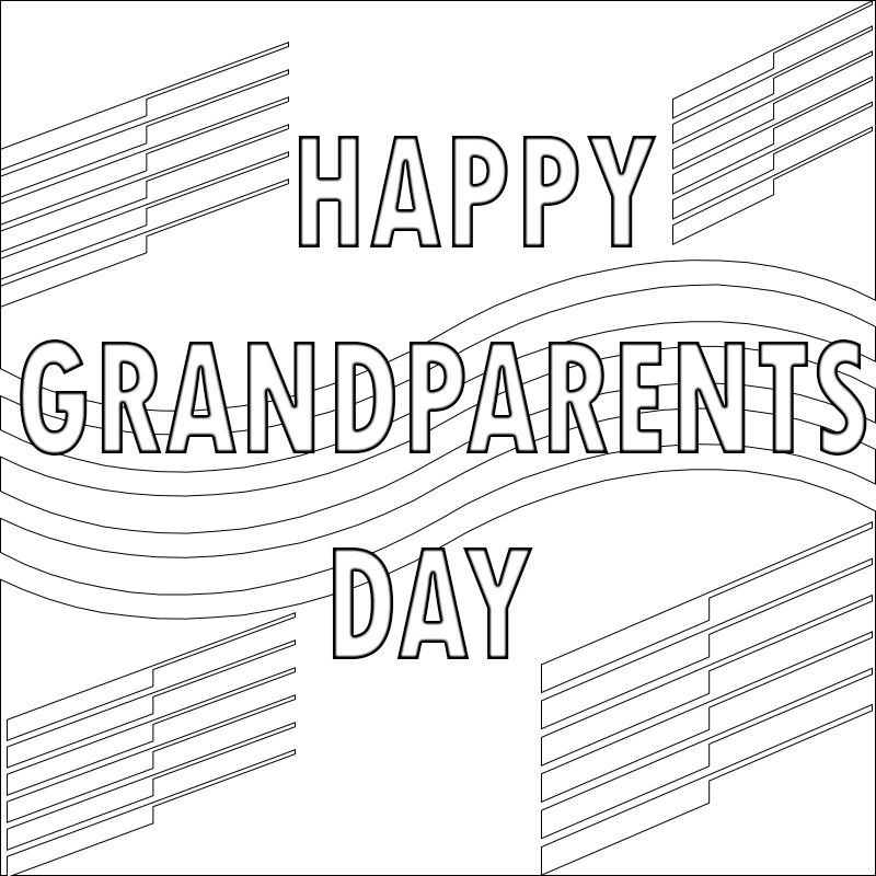 Grandparents Day Coloring Pages Preschool :We all love our