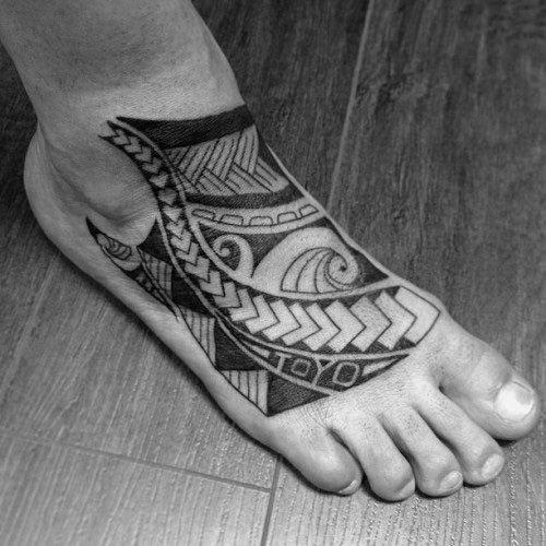 c0de70ce2e018 40 Tribal Foot Tattoos For Men – Manly Design Ideas