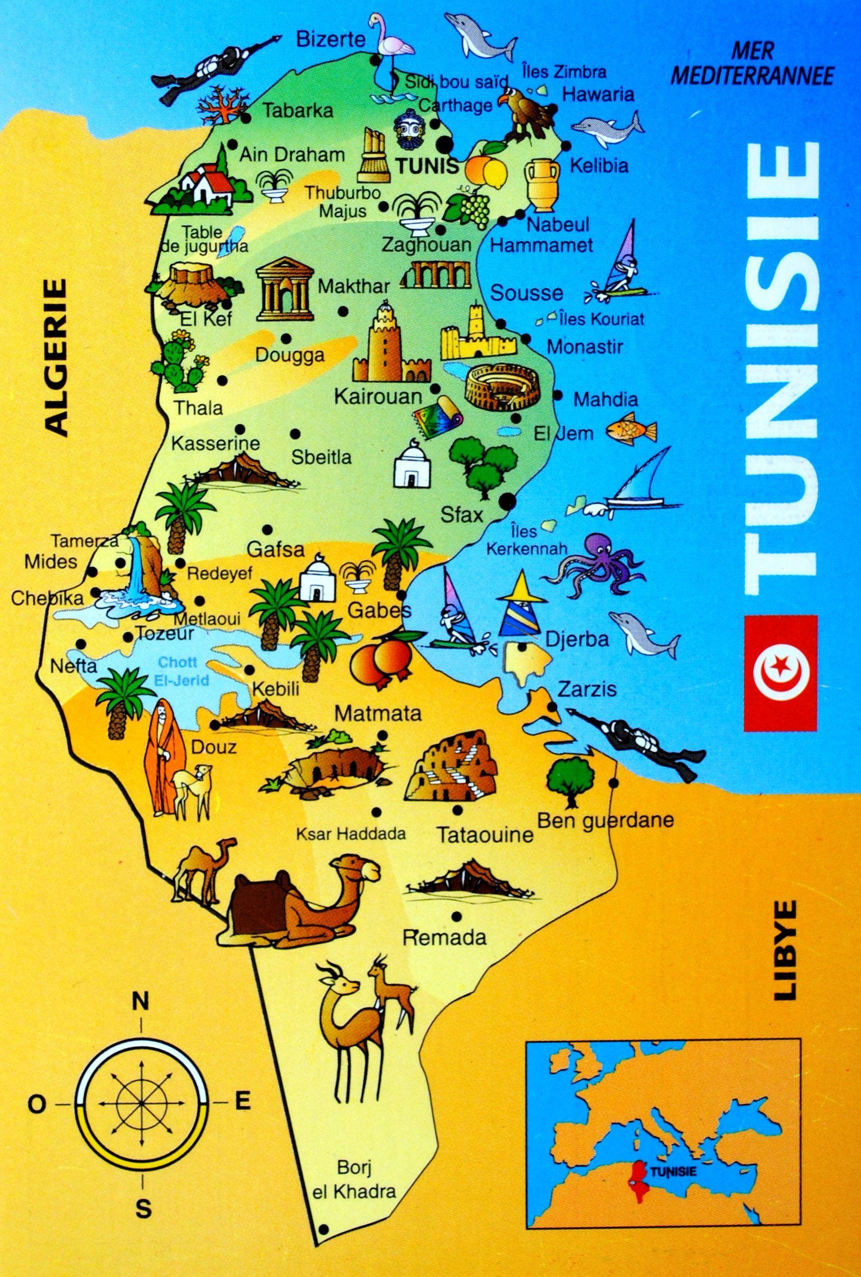 Tunesien Karte Welt.Tunisie Map Tunesien Tunesien Und Journey