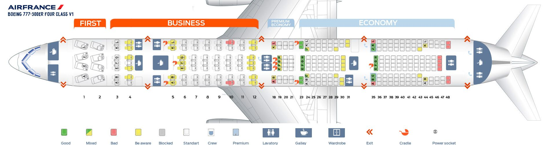 Air France Fleet Boeing 777300ER Details and Pictures