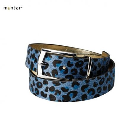 Montar Blue Leopard Belt - £24.95