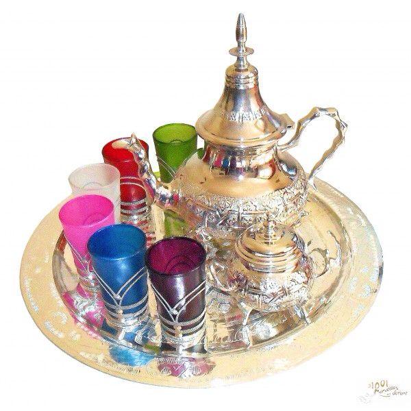 Magnifique service à thé marocain