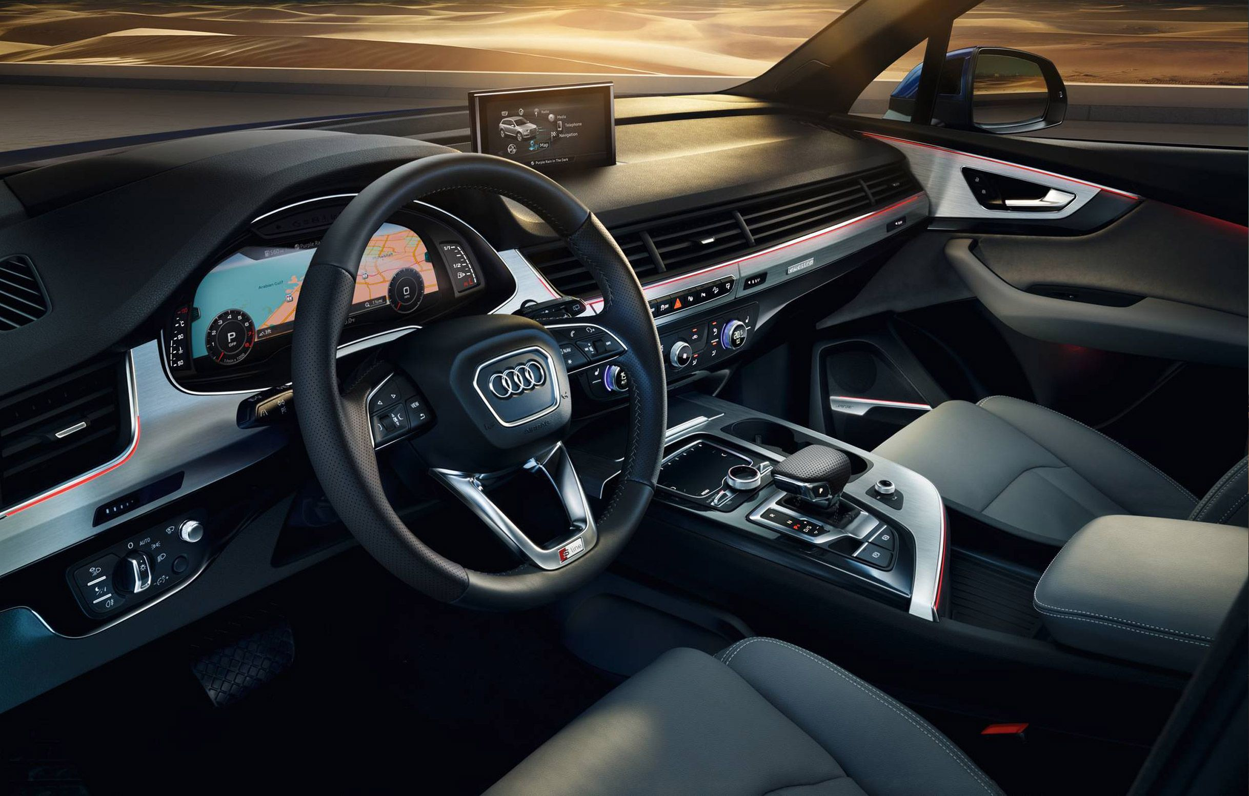 2017 audi q7 30t quattro cockpit car audi concepts pinterest audi q7 audi and cars
