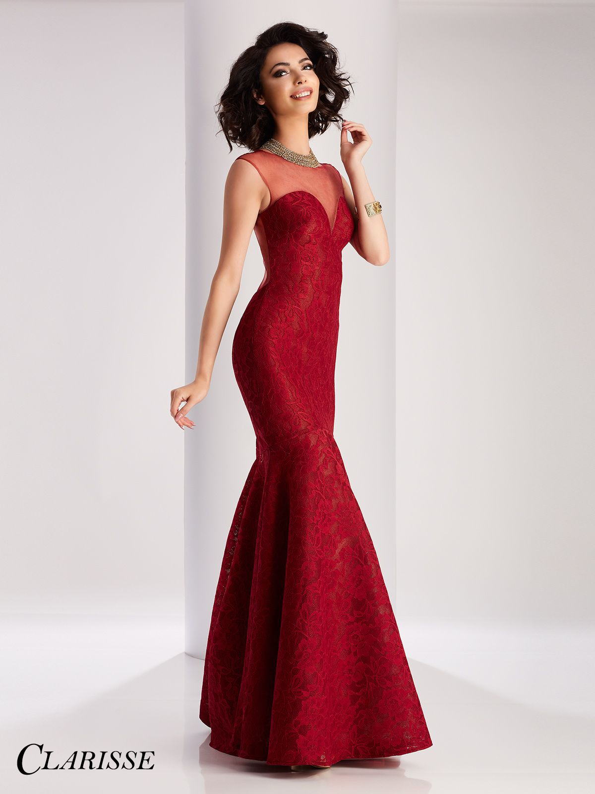 Wedding Prom Dresses Mermaid clarisse mermaid two piece prom dress 4808 mermaids the ojays lace 3061