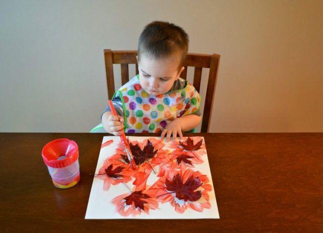 Basteln Mit Kindern Unter 3 Jahren Herbst Herbstblätter