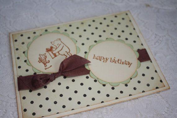 Happy birthday classic winnie the pooh and piglet greeting card happy birthday classic winnie the pooh and piglet greeting card m4hsunfo