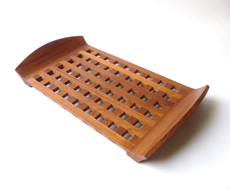 Uncategorized Modern Serving Trays dansk danish modern teak lattice serving tray household wants tray