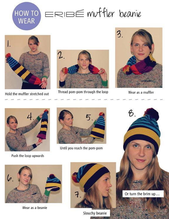 5342952964e Spring might be on its way but the weather certainly still is nippy! Check  out this innovative hat scarf from ERIBE knitwear