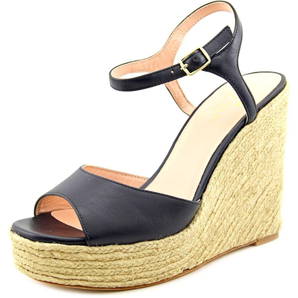 61ac36b8dc376 Kate Spade Dallie Women US 8.5 Blue Peep Toe Wedge Heel. The style ...