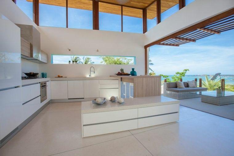 Fen tre bandeau pour d co de cuisine contemporaine annexe cuisine contemporaine maison - Fenetre de cuisine ...