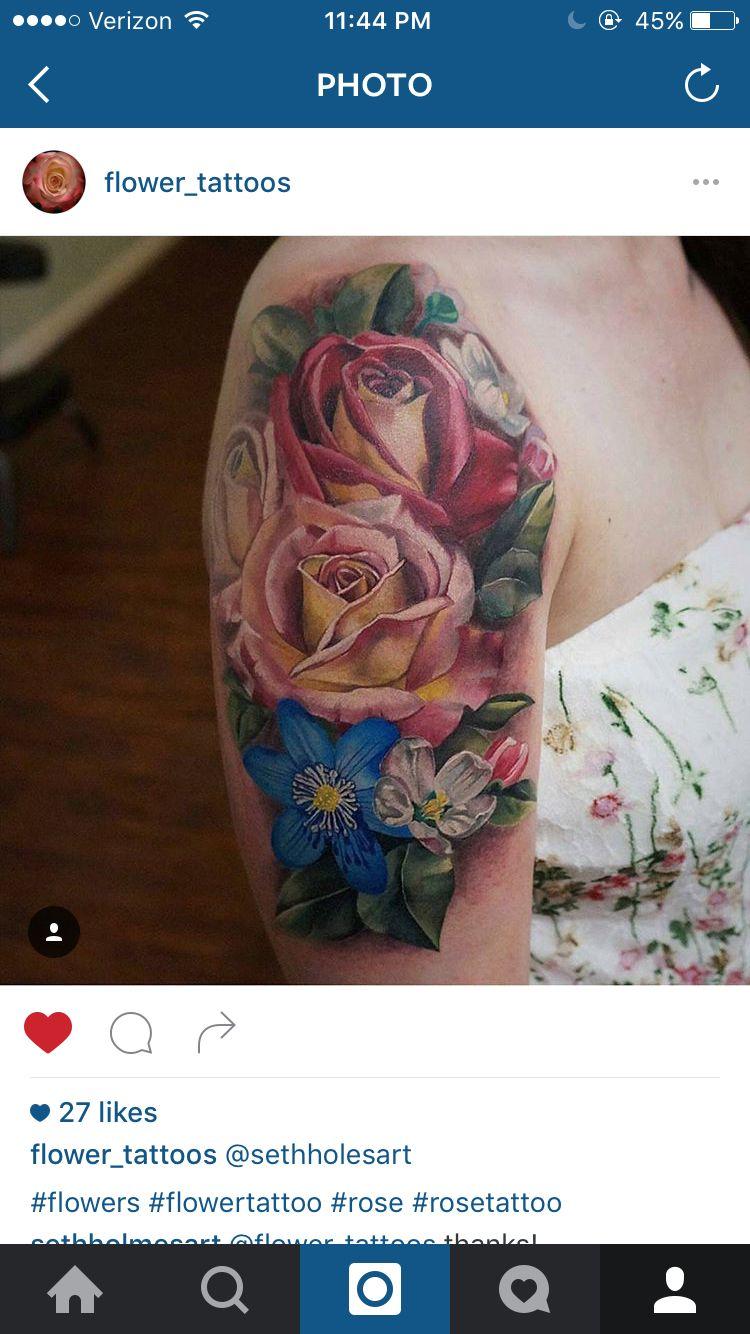 98f04d977 Flowers. Flowers Realistic Flower Tattoo, Watercolor Tattoo, Flower Tattoos  ...