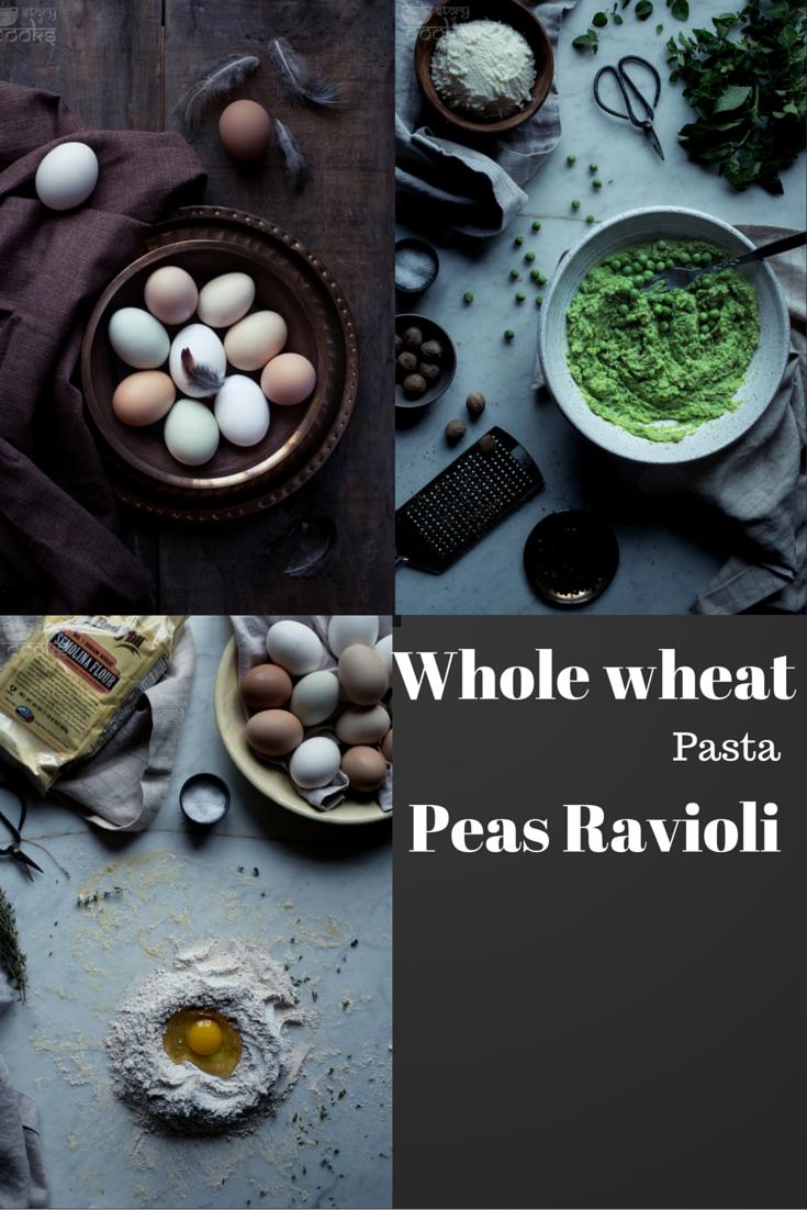 Whole Wheat Pasta Peas Ravioli Easy delicious dinner