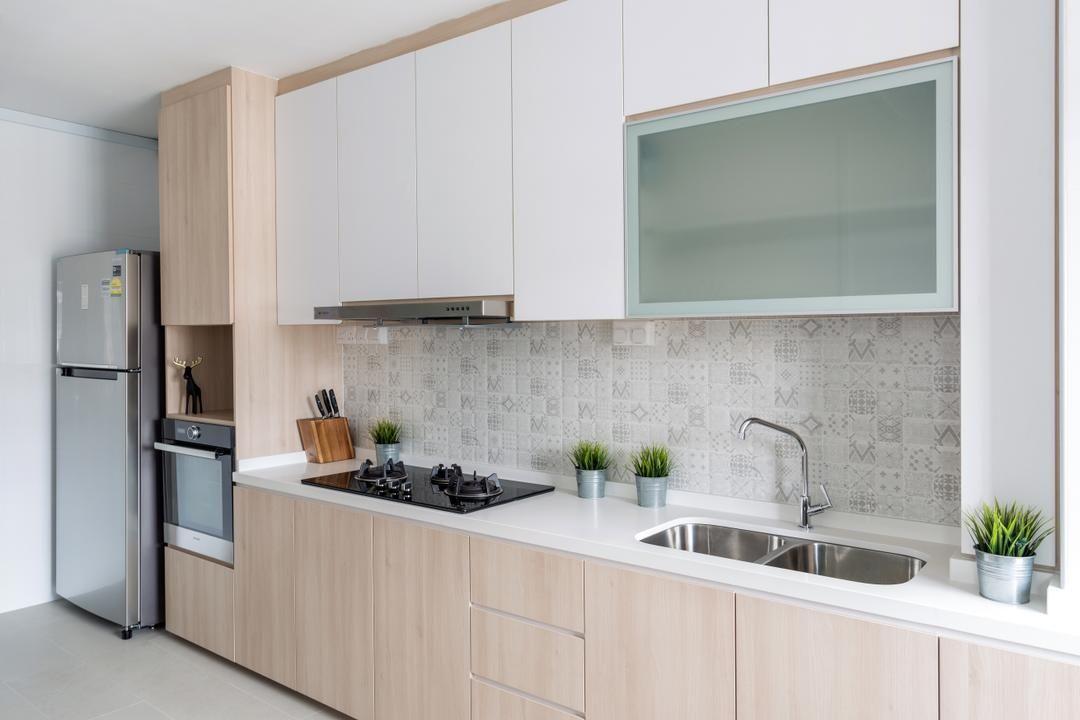 Pipit Road Starry Homestead Modern Scandinavian Kitchen Hdb Kitchen Design Small Scandinavian Kitchen Scandinavian Kitchen Design
