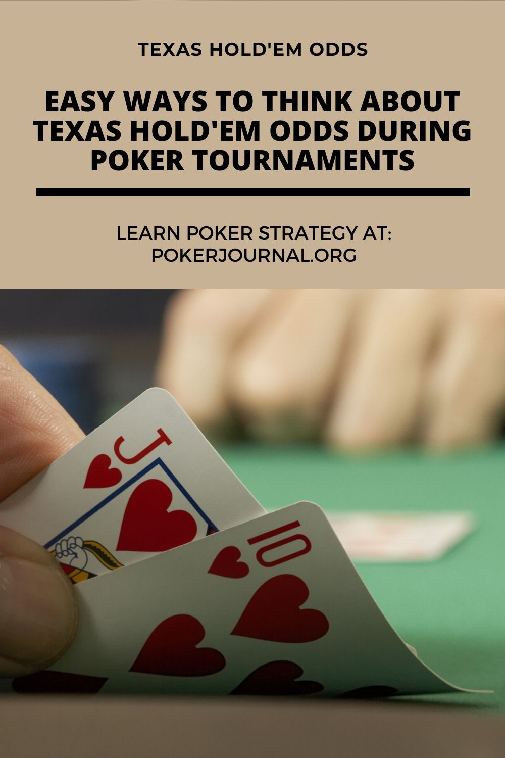 Texas Hold Em Odds Easy Ways To Think About Texas Hold Em Odds During Poker Tournaments Texas Holdem Poker Poker Tournament