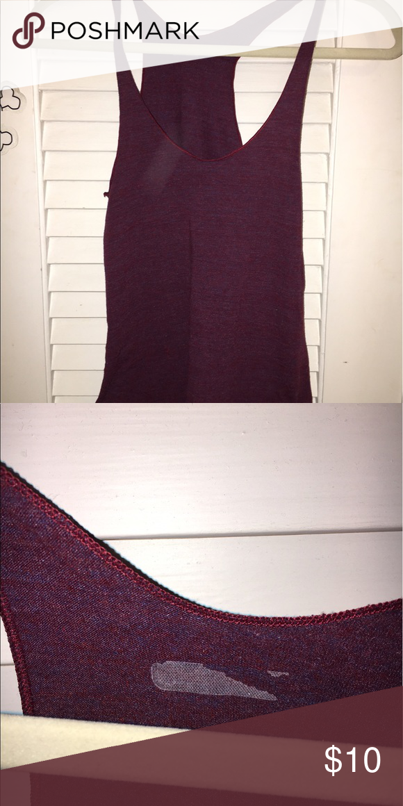 American Apparel Tri-Blend Tank Maroon racerback tri-blend tank top. In good condition (second picture shows leftover name tag that was ripped off, but everything else is perfect) American Apparel Tops