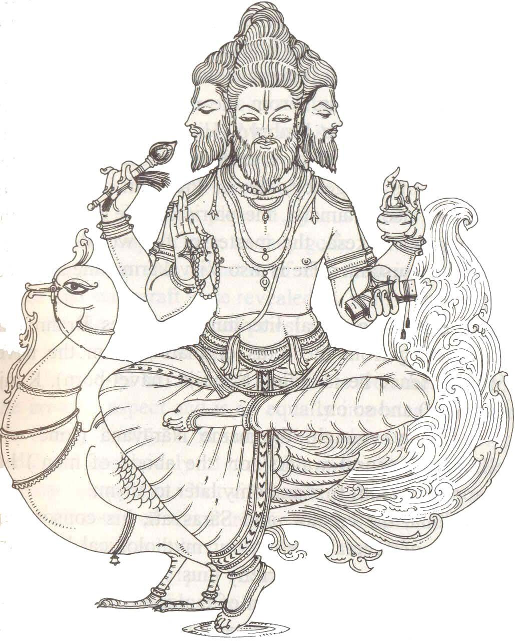 Hindu god brahma