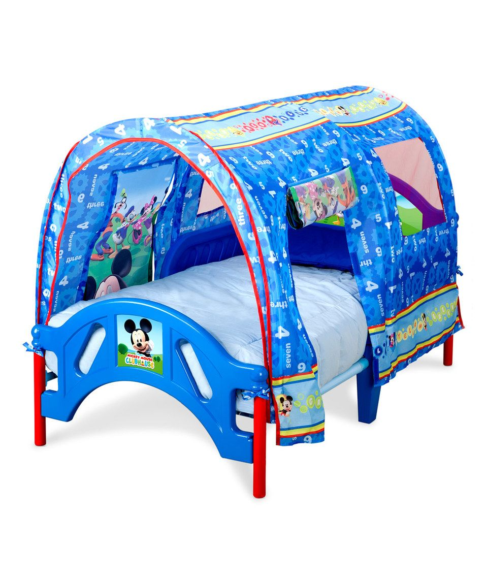 Mickey Mouse Tent Toddler Bed by Mickey Mouse u0026 Minnie  sc 1 st  Pinterest & Look at this #zulilyfind! Mickey Mouse Tent Toddler Bed by Mickey ...