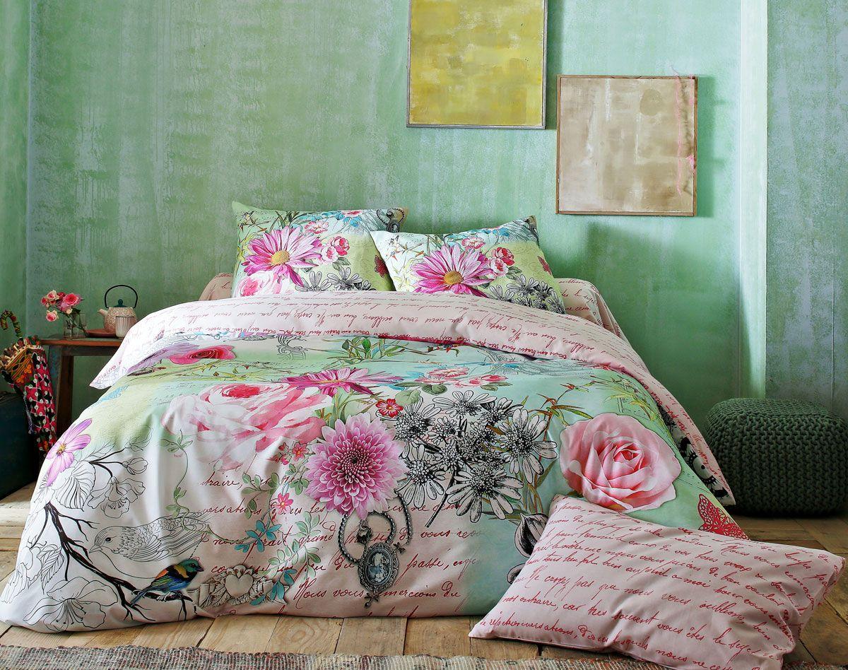 linge de lit fleurs effet 3d chambre pinterest. Black Bedroom Furniture Sets. Home Design Ideas
