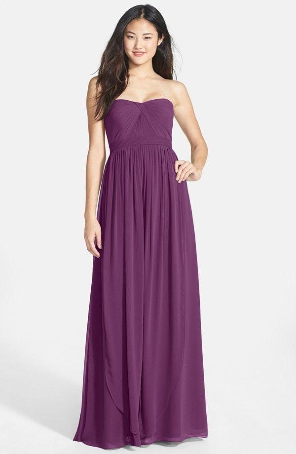 1431b718871 NWT Jenny Yoo Aidan Convertible Strapless Chiffon Gown VIOLET Size 0  305   JennyYoo  SheathDress  Formal