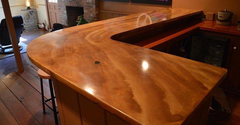 Elegant Bar Two Concrete Countertops Liquid Stone Warminster, PA