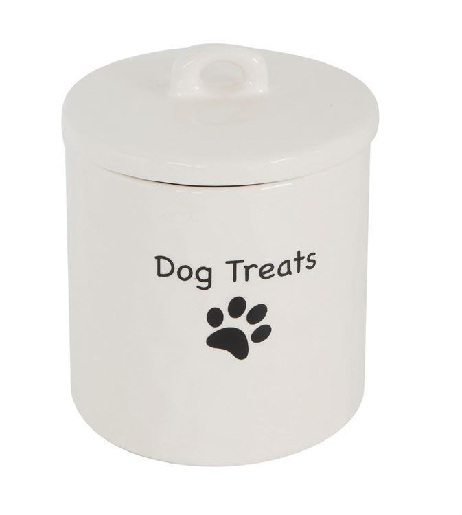 Stoneware Dog Treat Canister Dog Treat Jar Dog Treats Treats