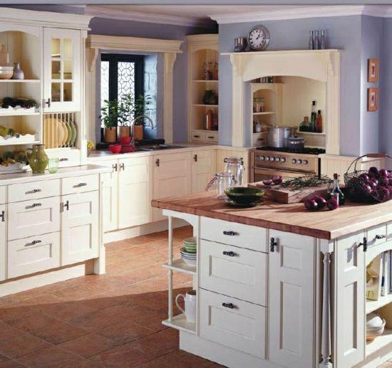 rustikale küchen esszimmer essstühle holz landhausstil wandfarbe - kche wandfarben