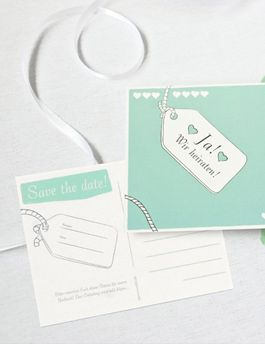 Save the Date Karten vor der Hochzeit Hochzeitstermin sichern