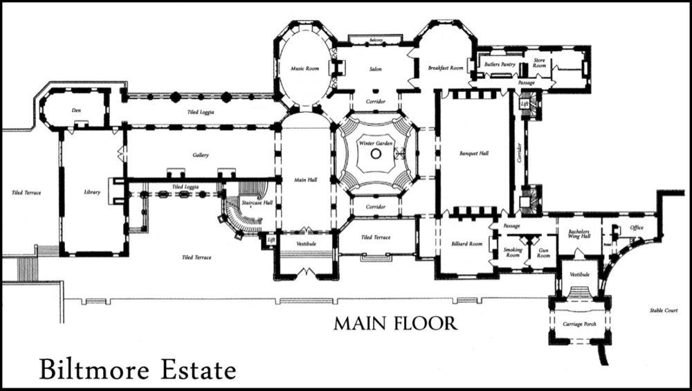 The Biltmore Estate A Great Plan Biltmore Estate Biltmore Biltmore House
