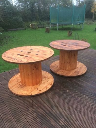 Cable reel / cable spool tables - 2 fully sanded cable reel tables finished with Ronseal natural c... #cablespooltables Cable reel / cable spool tables - 2 fully sanded cable reel tables finished with Ronseal natural c... #cablespooltables Cable reel / cable spool tables - 2 fully sanded cable reel tables finished with Ronseal natural c... #cablespooltables Cable reel / cable spool tables - 2 fully sanded cable reel tables finished with Ronseal natural c... #cablespooltables
