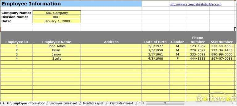 Payroll Templates Word Excel Fomats Payroll Template Payroll