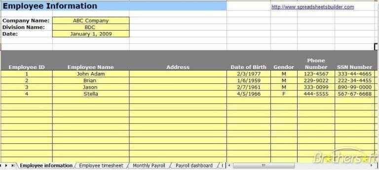 Payroll Template 2 Payroll Template Payroll Software Payroll