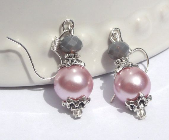 Bridesmaid jewelry Wedding Pink and Gray by Stunning Gems Jewelry Pink Wedding jewelry Wedding Jewelry Bridesmaid Jewelry Flower Girl Jewelry Bridesmaid Jewelry Gift Flower Girl Jewelry Gift