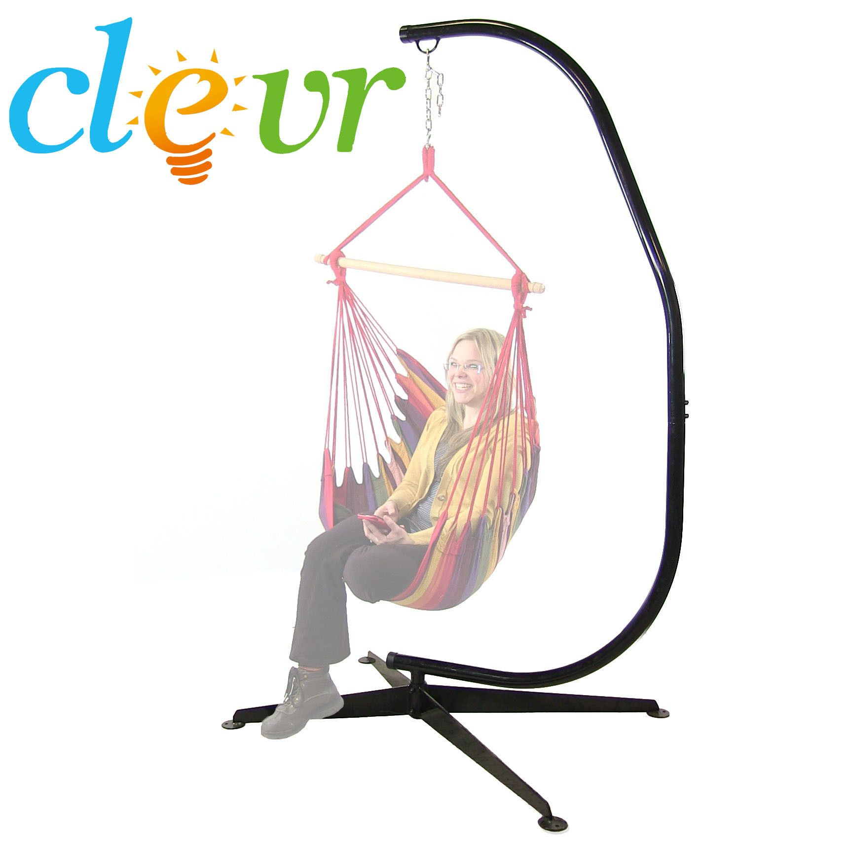 Hammock c stand solid steel construction for hammock air porch swing