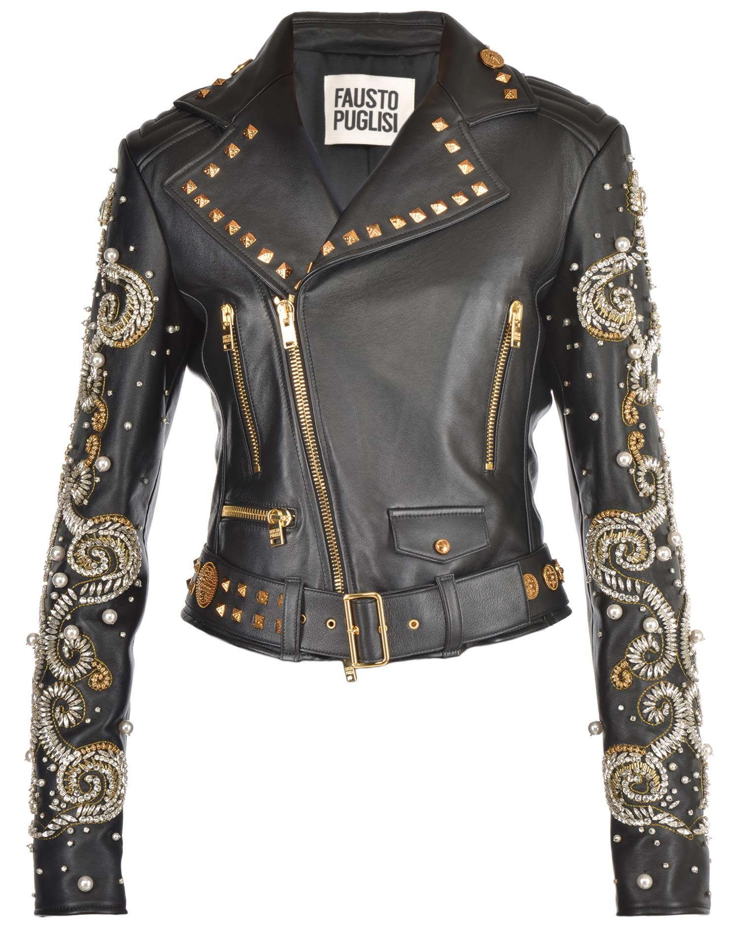 a5be673f90 FAUSTO PUGLISI LEATHER JACKET.  faustopuglisi  cloth