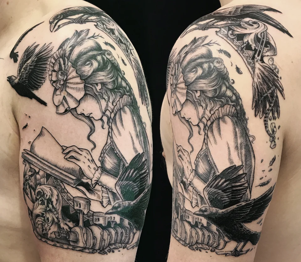 Lady of the Crows and Machine by Danica at Wolf & Wren in
