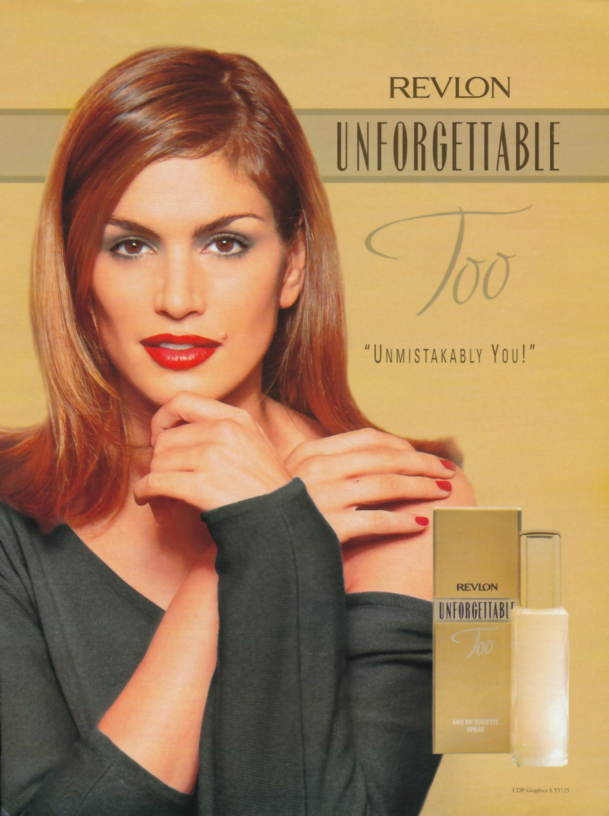 cindy crawford cover | AD: Revlon Fragrance | Beauty Mark ...