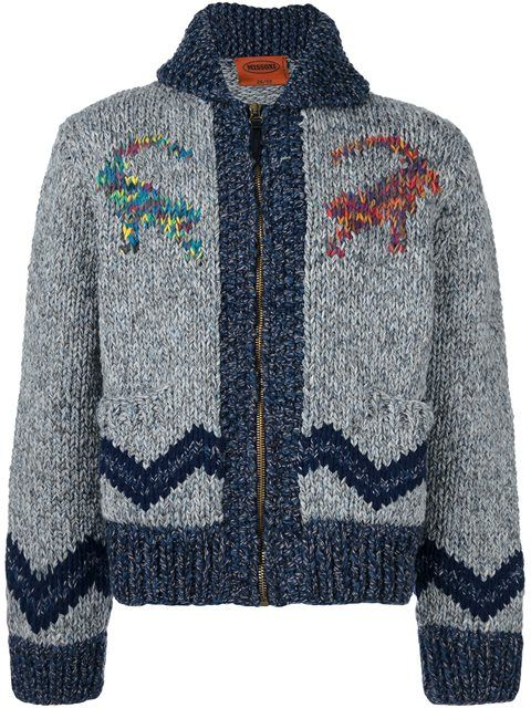 d0d23696a8e1c2 MISSONI Zipped Chunky Knit Cardigan.  missoni  cloth  cardigan ...