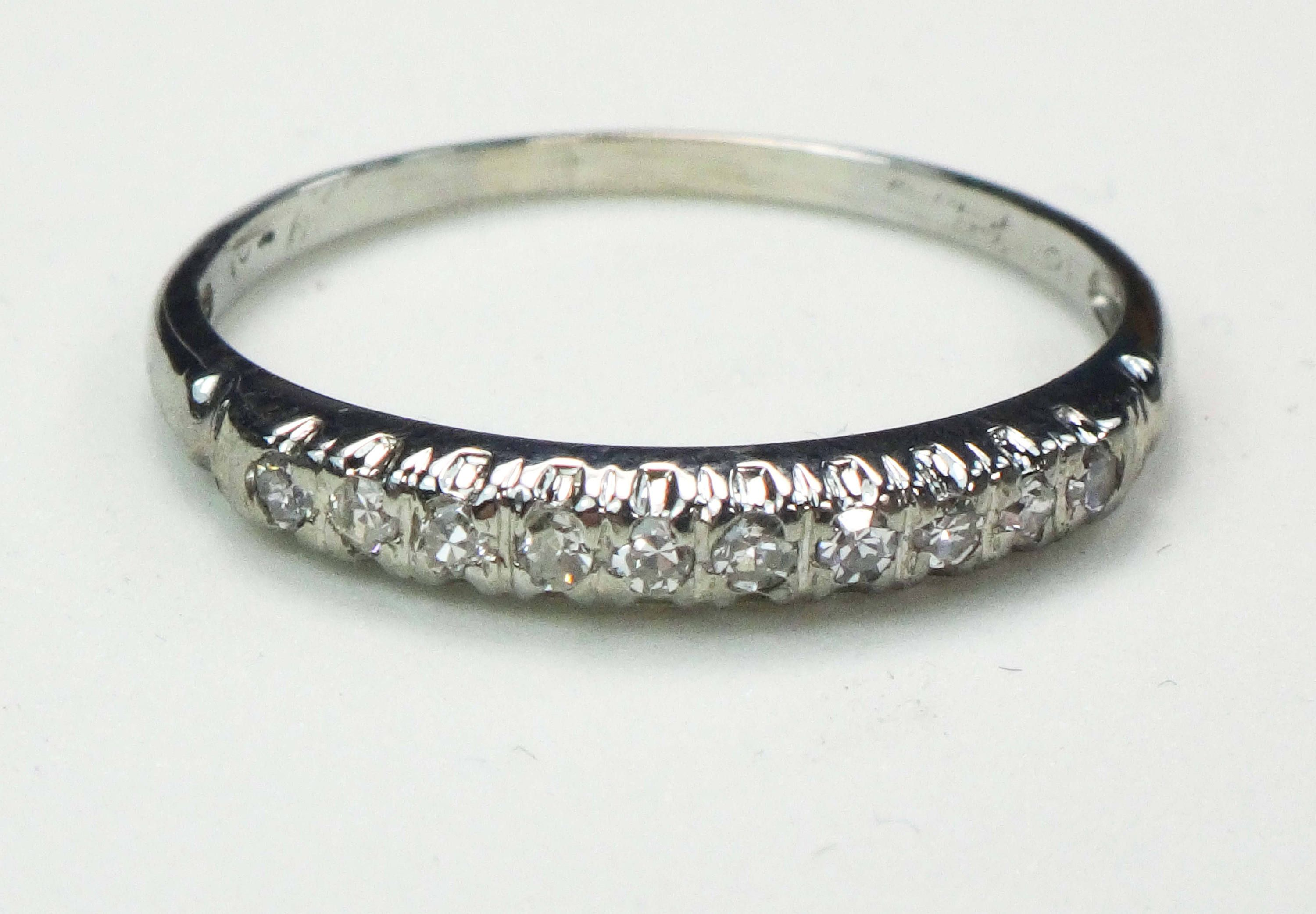 wedding rings diamond gold pave band petite of yellow and elegant bands