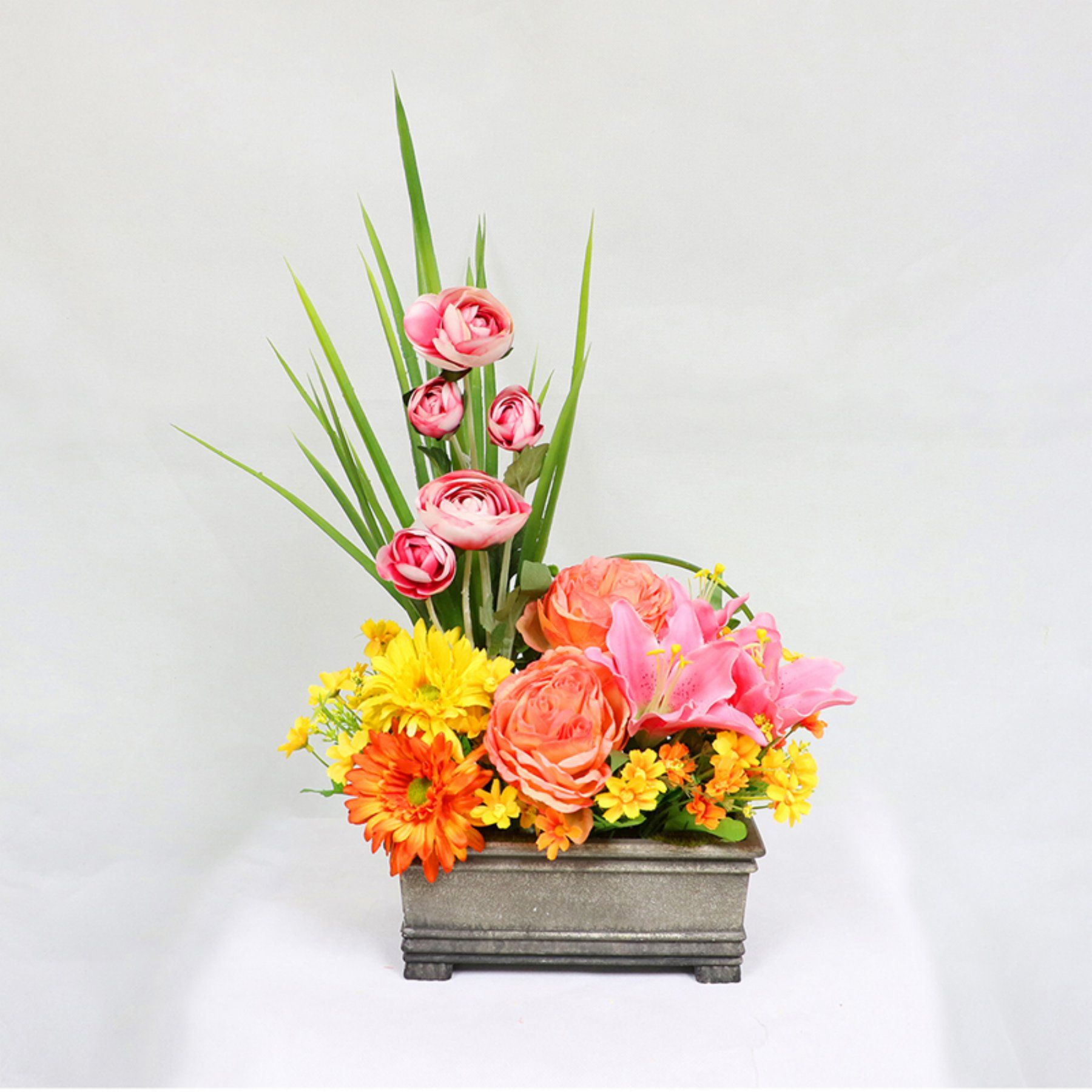 Puleo International Flower Arrangement With Planter  302 Tb816