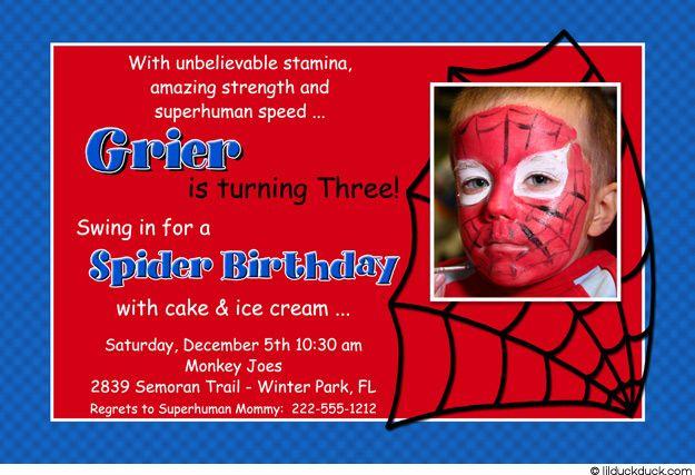 spiderman party spiderman birthday