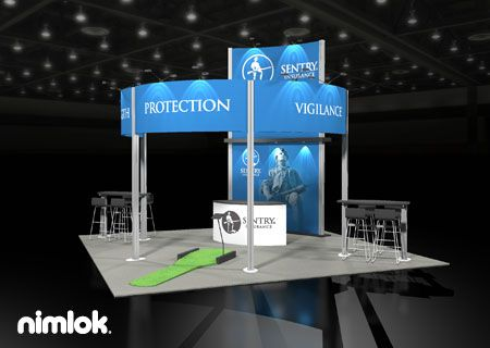 Trade Show Booth Objectives : Nimlok creates trade show displays that bring clear roi for