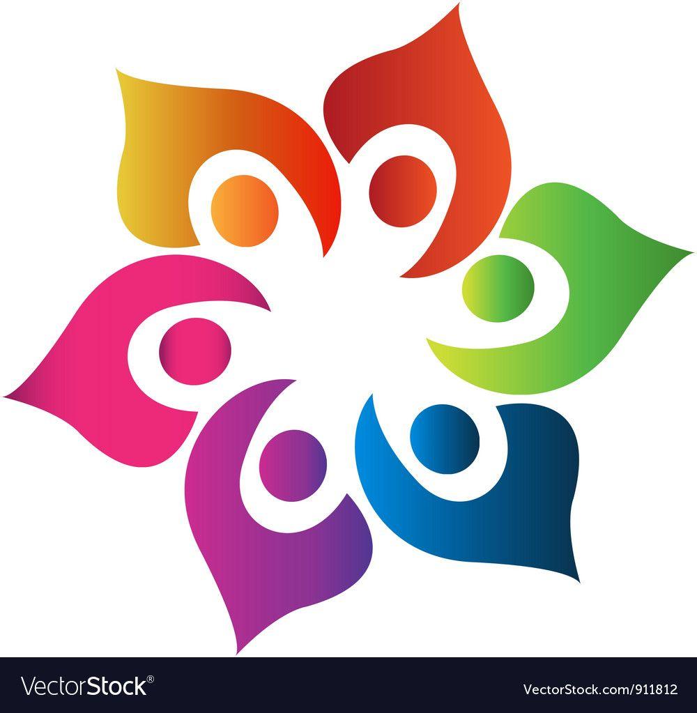 Teamwork People United Logo Royalty Free Vector Image Sponsored United Logo Teamwork People Ad Vector Free Lotus Flower Logo Hand Logo