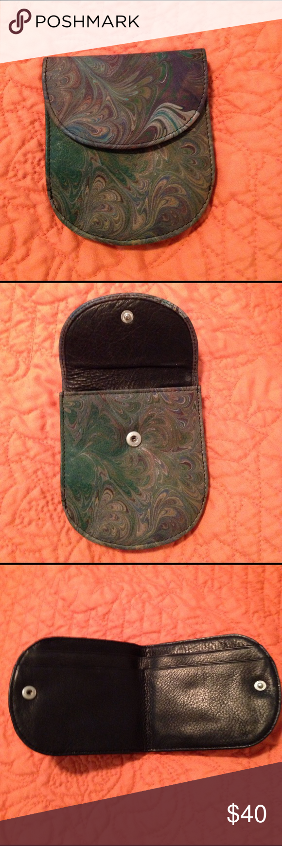Paisley print leather wallet LIKE NEW paisley print leather wallet. Bags Wallets