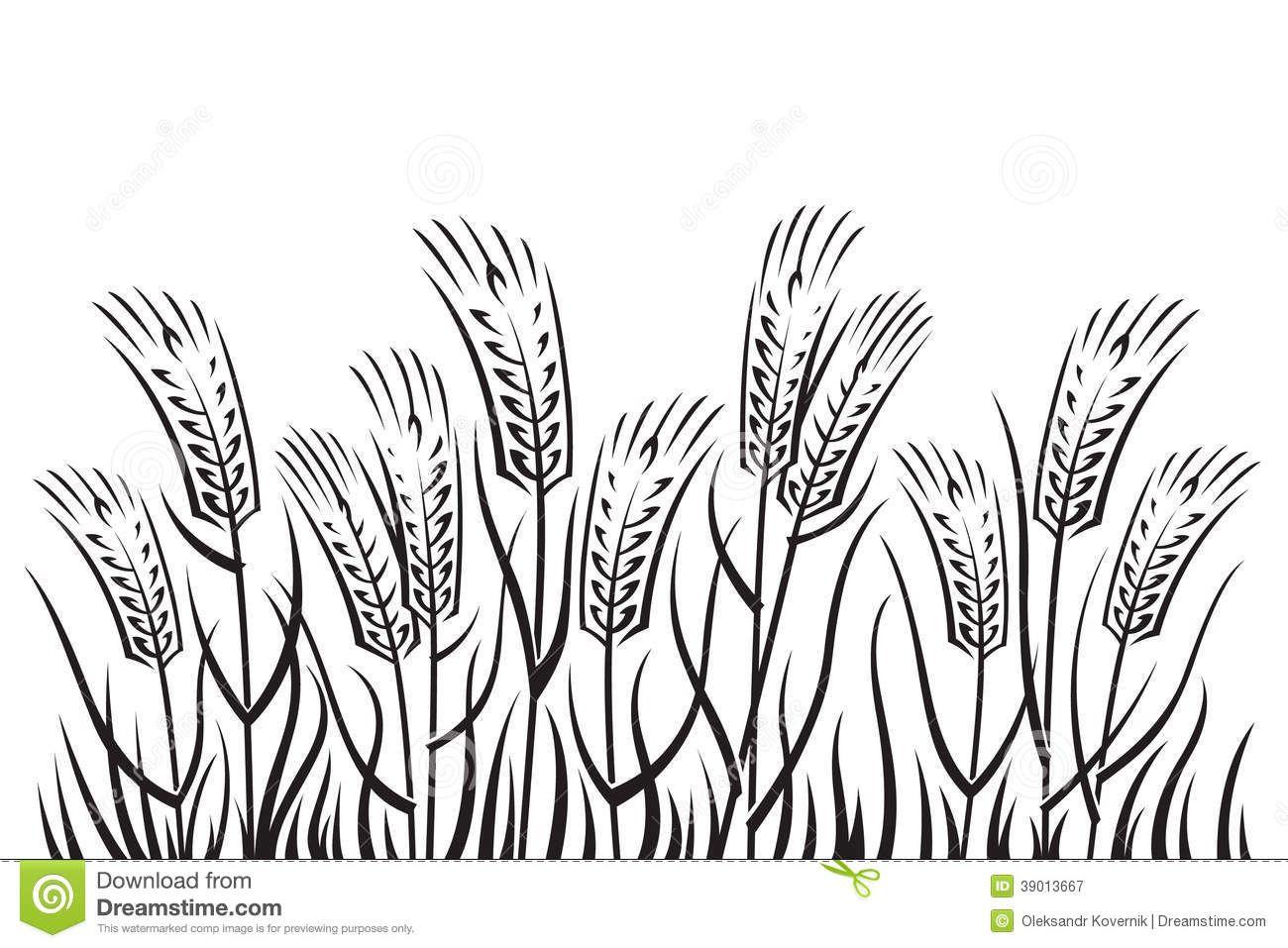 Farm Field Clipart Black And White