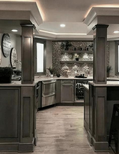 20 Dark And Elegant Kitchen Decoration Ideas Eweddingmag Com Home Decor Kitchen Elegant Kitchens Luxury Kitchens