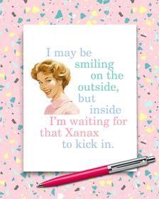 RETRO Funny Xanax Card Sarcastic Friendship Card Best Friend | Etsy