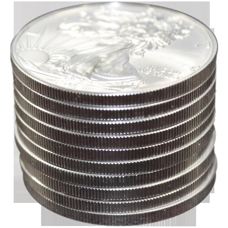 2012 Silver American Eagle BU 10 Pieces